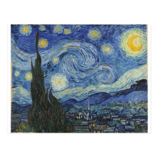 The Starry Night, June 1889 (oil on canvas) Postcards