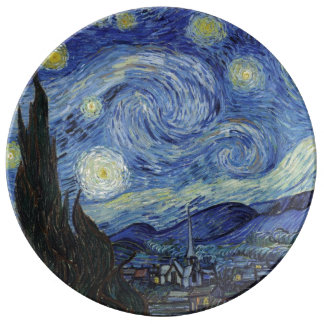 The Starry Night Porcelain Plate