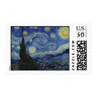 The Starry Night Postage
