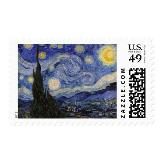 The Starry Night Postage Stamp