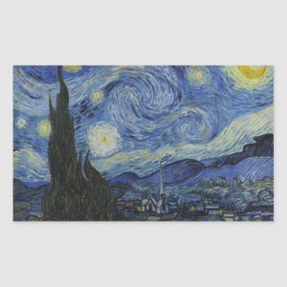 The Starry Night Rectangle Sticker