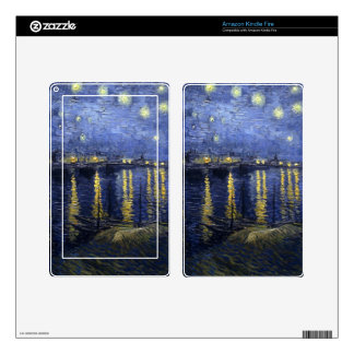 The Starry Night Kindle Fire Decals