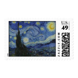 The Starry Night - Van Gogh (1888) Postage Stamps