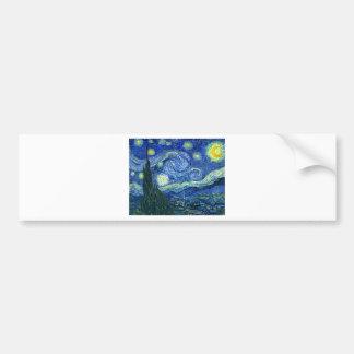 The Starry Night - Vincent van Gogh (1889) Bumper Sticker