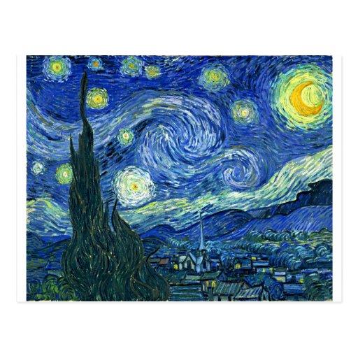 The Starry Night - Vincent van Gogh (1889) Postcard