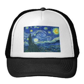 The Starry Night - Vincent van Gogh (1889) Trucker Hat