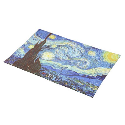 The Starry Night, Vincent van Gogh Place Mats