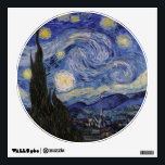 """The Starry Night Wall Decal<br><div class=""""desc"""">The Starry Night by Vincent van Gogh,  1889.</div>"""