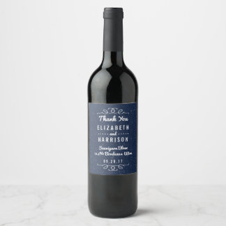 The Starry Night Wedding Collection Wine Label