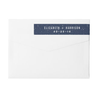 The Starry Night Wedding Collection Wrap Around Label