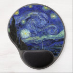 "The Starry Night Wrist Support Gel Mousepad<br><div class=""desc"">Vincent Willem van Gogh was a post-Impressionist painter. A Dutch artist whose work had a far-reaching influence on 20th-century art. The Starry Night is an oil on canvas by him painted in June,  1889,  it depicts the view from the east-facing window of his asylum room at Saint-R&#233;my-de-Provence</div>"