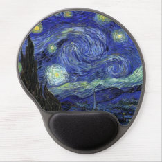 The Starry Night Wrist Support Gel Mousepad at Zazzle