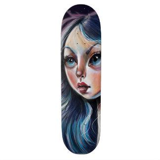 The Starry Sky Pop Surrealism Art Skateboard