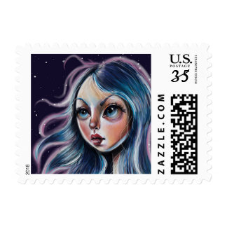 The Starry Sky Pop Surrealism Art Stamp