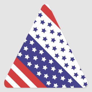 The Stars and Stripes Triangle Sticker