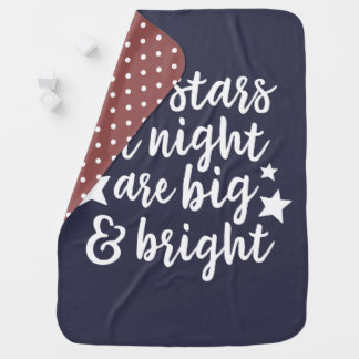 The Stars at Night Texas Baby Blanket