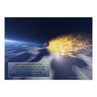 """""""The Stars Of Heaven Shall Fall"""" Prophetic Poster"""