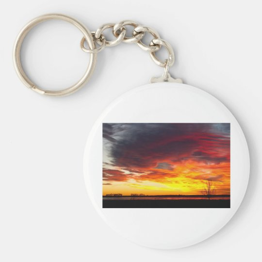 The Start of A Colorful  Day Colorado Sunrise Imag Keychain