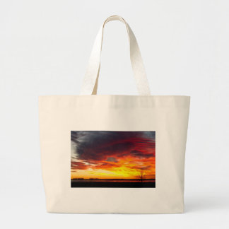 The Start of A Colorful  Day Colorado Sunrise Imag Large Tote Bag