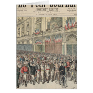 The Start of the Road Race Card