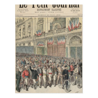 The Start of the Road Race Postcard