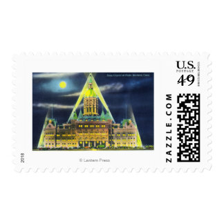 The State Capitol Building at Night Postage