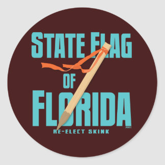The State Flag of Florida Round Sticker