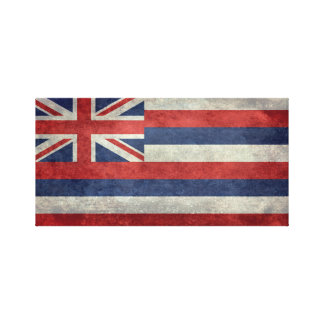 The State flag of Hawaii - Vintage version Canvas Print