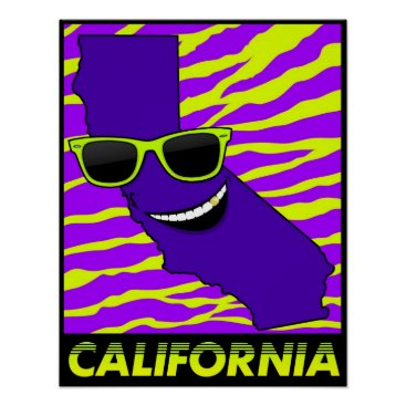 Beach Themed The State of California Poster