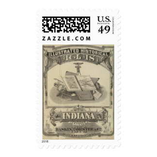 The State of Indiana Postage Stamp