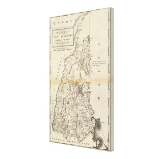 The State of New Hampshire Canvas Print