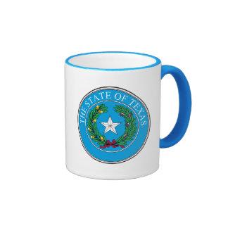 The State of Texas Seal Ringer Coffee Mug