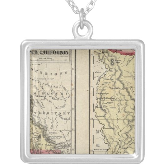 The State Of Texas Silver Plated Necklace