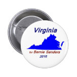 The State of Virginia for Bernie Sanders 2 Inch Round Button
