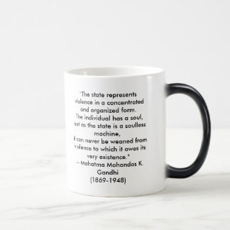 """The state represents violence in a concentrate... Magic Mug"