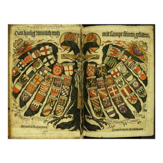 The States of the Holy Roman Empire Jost de Negker Poster
