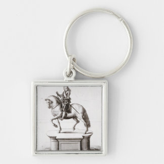 The statue of King Charles at Charing Cross Keychain