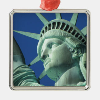The Statue Of Liberty At New York City Metal Ornament