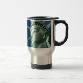The Statue Of Liberty At New York City Travel Mug