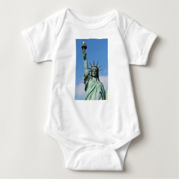USA Themed The statue of liberty baby bodysuit