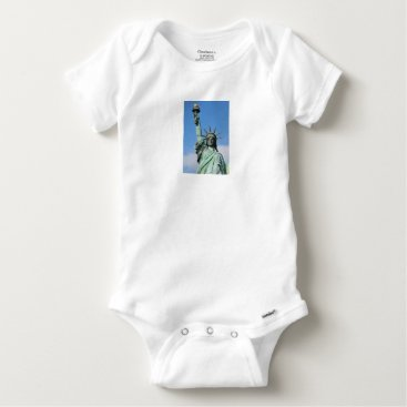 USA Themed The statue of liberty baby onesie