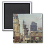 The Statue of Liberty, by Bartholdi 2 Inch Square Magnet