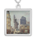 The Statue of Liberty, by Bartholdi Square Pendant Necklace