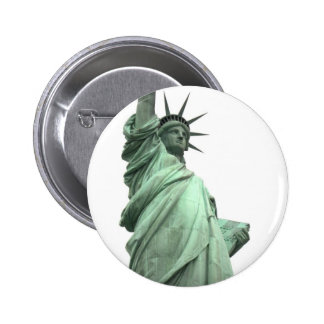 The Statue of Liberty in New York Harbor Button