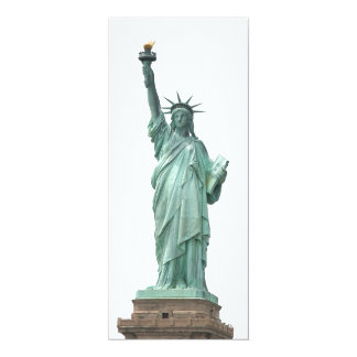 The Statue of Liberty 4x9.25 Paper Invitation Card