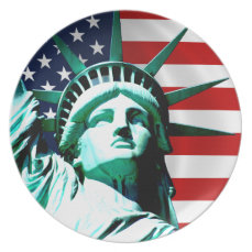 The Statue of Liberty, New York, NY Melamine Plate