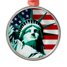 The Statue of Liberty, New York, NY Metal Ornament