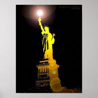The Statue of Liberty, New York, USA print