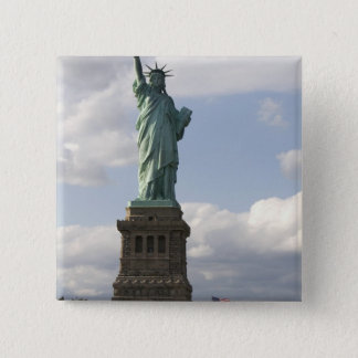 The Statue of Liberty on Liberty Island in New Pinback Button