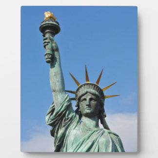 The statue of liberty plaque